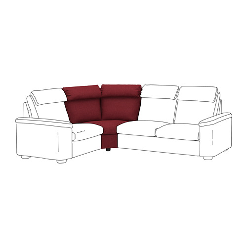 LIDHULT - 角位梳化, Lejde 啡紅色 | IKEA 香港及澳門 - PE711940_S4