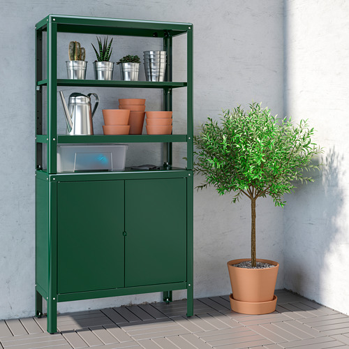 KOLBJÖRN - 層架組合連貯物櫃, 綠色 | IKEA 香港及澳門 - PE752178_S4