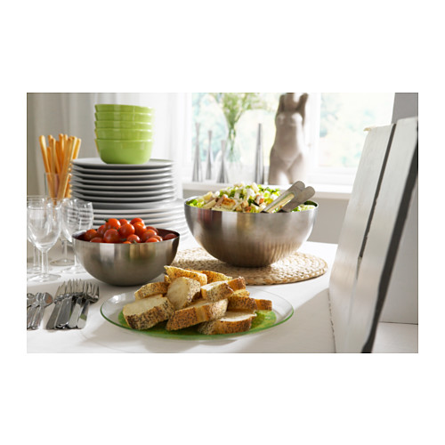 BLANDA BLANK - serving bowl, stainless steel, 28cm | IKEA Hong Kong and Macau - PE140053_S4