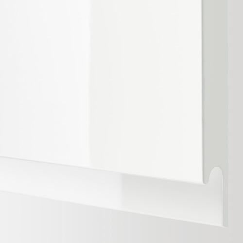 METOD - 雙門吊櫃連推按式開關, 白色/Voxtorp 光面白色   IKEA 香港及澳門 - PE670754_S4