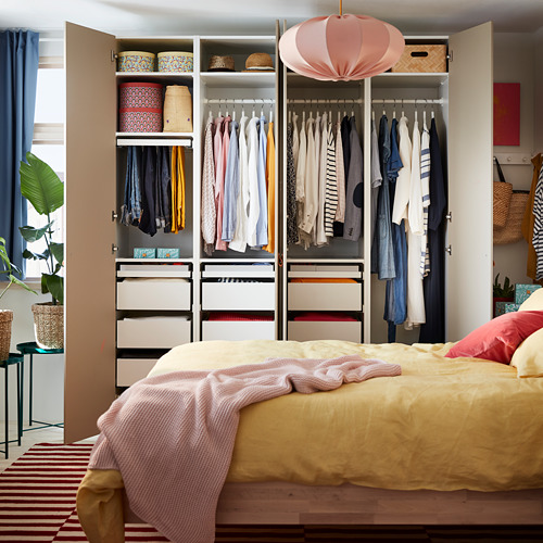 PAX/REINSVOLL - wardrobe combination, white/grey-beige | IKEA Hong Kong and Macau - PH171766_S4