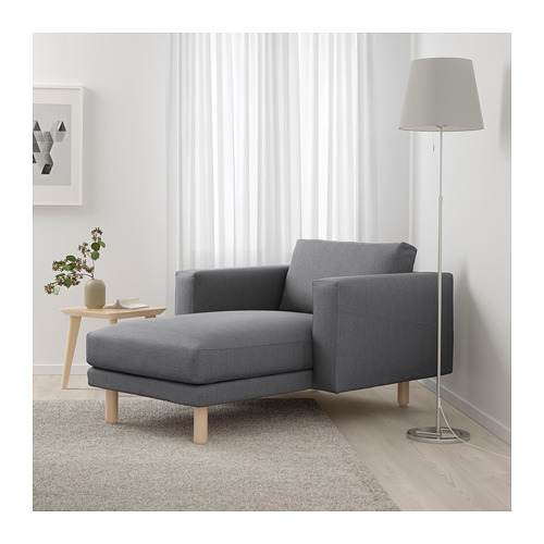 NORSBORG - chaise longue, Finnsta dark grey/birch   IKEA Hong Kong and Macau - PE663784_S4