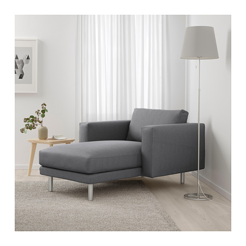 NORSBORG - chaise longue, Finnsta dark grey/metal | IKEA Hong Kong and Macau - PE663785_S4
