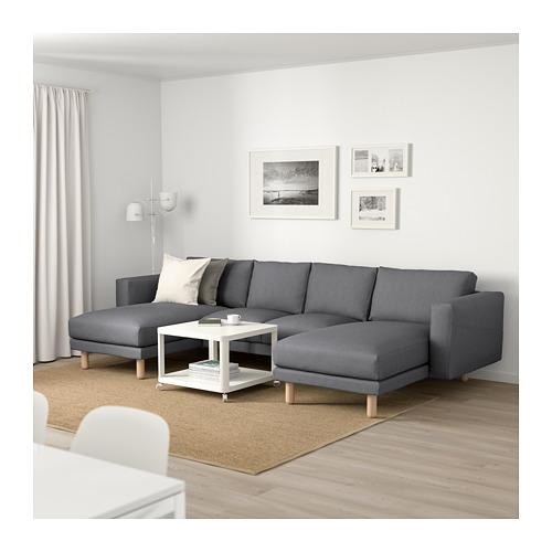 NORSBORG - 四座位梳化, 連躺椅/Finnsta 深灰色/樺木 | IKEA 香港及澳門 - PE663782_S4