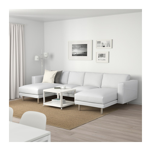 NORSBORG - 4-seat sofa, with chaise longues/Finnsta white/metal | IKEA Hong Kong and Macau - PE663765_S4