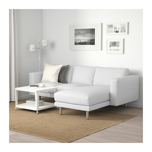 NORSBORG - 3-seat sofa, with chaise longue/Finnsta white/birch | IKEA Hong Kong and Macau - PE663775_S4