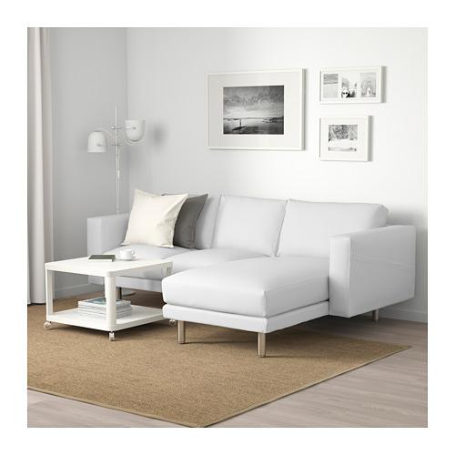 NORSBORG - 3-seat sofa, with chaise longue/Finnsta white/metal   IKEA Hong Kong and Macau - PE663757_S4