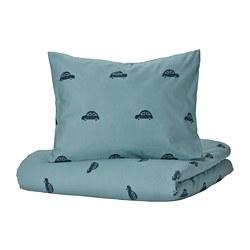 BARNDRÖM - 被套枕袋套裝, 車/藍色   IKEA 香港及澳門 - PE808497_S3