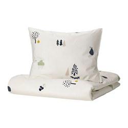 BARNDRÖM - 被套枕袋套裝, 森林動物/彩色   IKEA 香港及澳門 - PE808490_S3