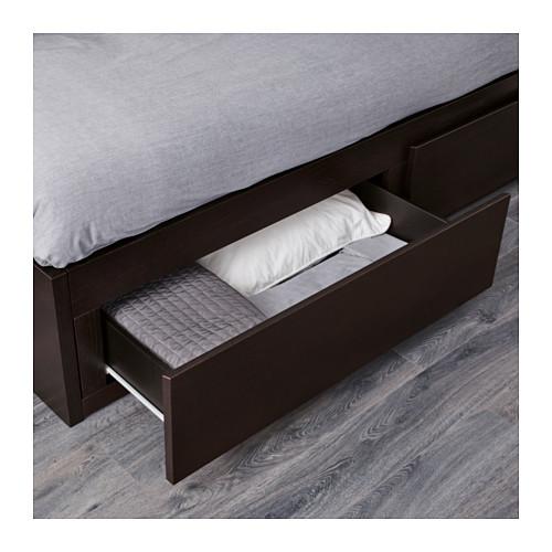 FLEKKE - 日間床連2抽屜及2床褥, 棕黑色/Malfors 高度承托   IKEA 香港及澳門 - PE608744_S4