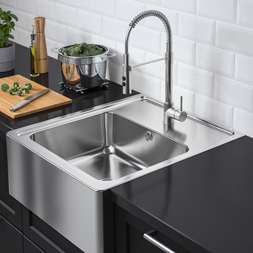 BREDSJÖN - sink bowl w visible front, stainless steel | IKEA Hong Kong and Macau - PE712388_S4