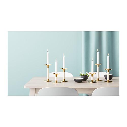 GLITTRIG - 燭台,3 件套裝, 象牙色/金色 | IKEA 香港及澳門 - PH153605_S4