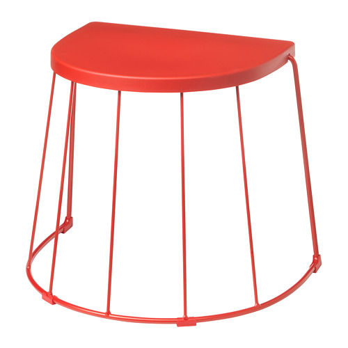 TRANARÖ - stool/side table, in/outdoor, red | IKEA Hong Kong and Macau - PE712445_S4