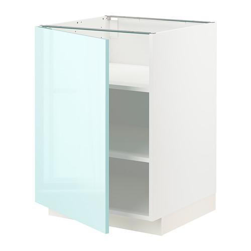 METOD - 地櫃連層板, 白色 Järsta/光面 淺湖水綠色 | IKEA 香港及澳門 - PE808608_S4