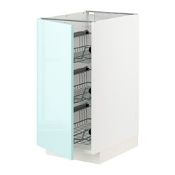 METOD - 地櫃連網籃, 白色 Järsta/光面 淺湖水綠色   IKEA 香港及澳門 - PE808618_S3