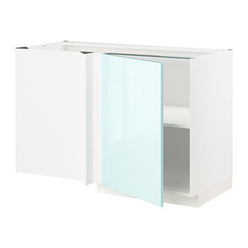 METOD - 角位地櫃連層板, 白色 Järsta/光面 淺湖水綠色 | IKEA 香港及澳門 - PE808614_S4