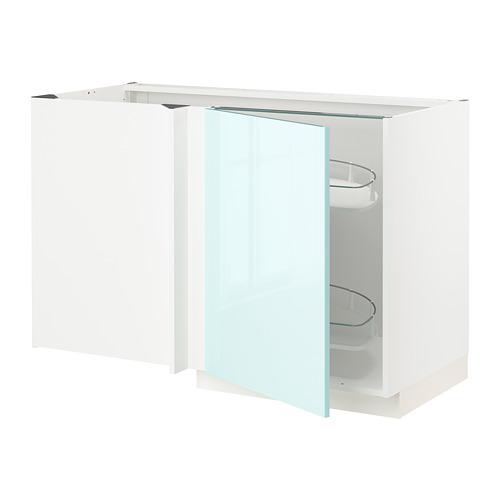 METOD - 角位地櫃連拉出式配件, 白色 Järsta/光面 淺湖水綠色   IKEA 香港及澳門 - PE808621_S4