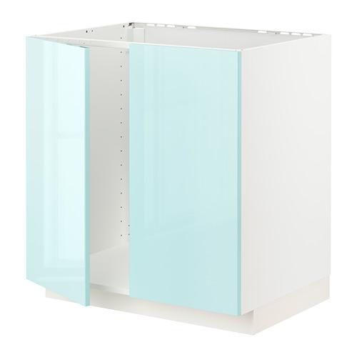 METOD - 星盆用地櫃連一對門, 白色 Järsta/光面 淺湖水綠色 | IKEA 香港及澳門 - PE808613_S4