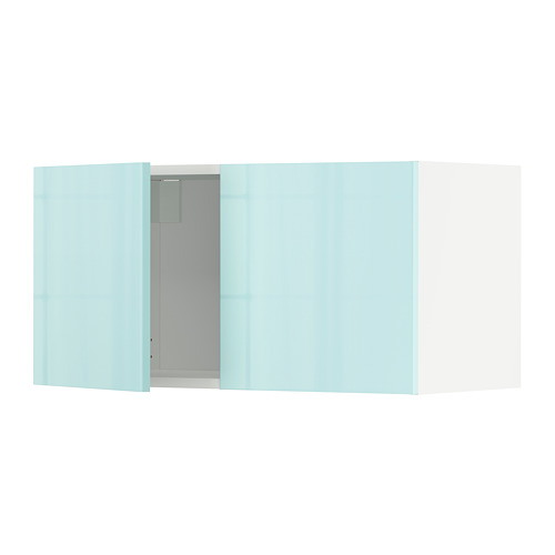 METOD - 雙門吊櫃, white Järsta/high-gloss light turquoise | IKEA 香港及澳門 - PE808628_S4