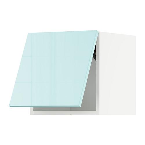 METOD - 吊櫃連推按式開關, white Järsta/high-gloss light turquoise | IKEA 香港及澳門 - PE808630_S4