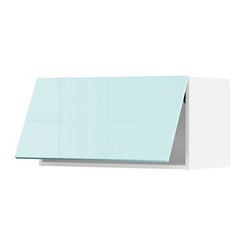 METOD - 吊櫃連推按式開關, white Järsta/high-gloss light turquoise   IKEA 香港及澳門 - PE808634_S4