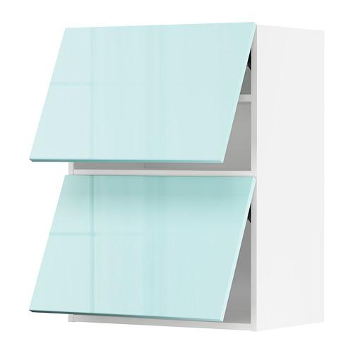 METOD - 雙門吊櫃連推按式開關, white Järsta/high-gloss light turquoise   IKEA 香港及澳門 - PE808635_S4