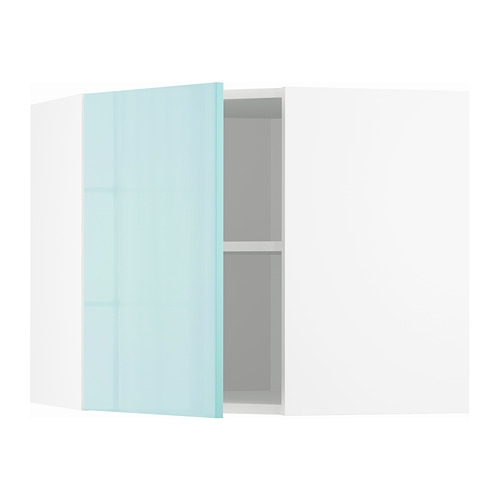 METOD - corner wall cabinet with shelves, white Järsta/high-gloss light turquoise | IKEA Hong Kong and Macau - PE808636_S4