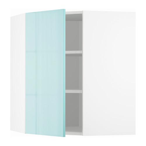 METOD - 角位吊櫃連層板, white Järsta/high-gloss light turquoise | IKEA 香港及澳門 - PE808617_S4