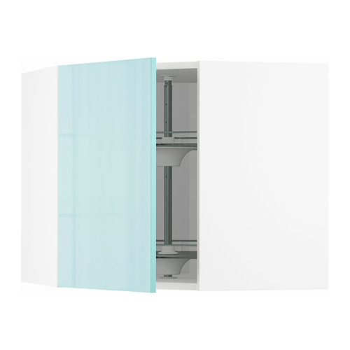 METOD - 角位吊櫃連旋轉盤, white Järsta/high-gloss light turquoise | IKEA 香港及澳門 - PE808638_S4