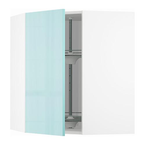 METOD - 角位吊櫃連旋轉盤, white Järsta/high-gloss light turquoise   IKEA 香港及澳門 - PE808597_S4