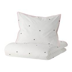 VÄNKRETS - 被套枕袋套裝, dot pattern white/pink | IKEA 香港及澳門 - PE809752_S3