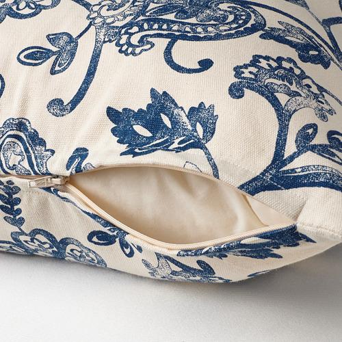 JUNIMAGNOLIA - cushion cover, natural/blue | IKEA Hong Kong and Macau - PE808716_S4