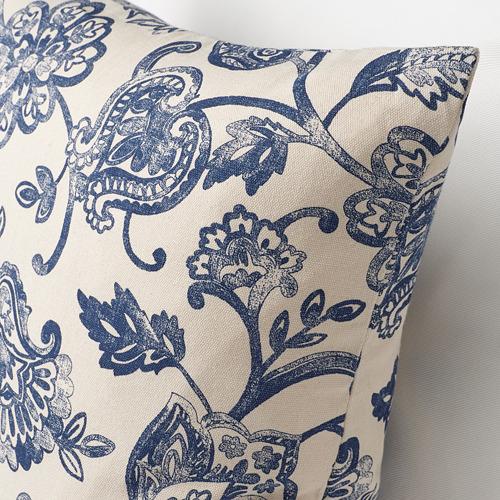 JUNIMAGNOLIA - cushion cover, natural/blue | IKEA Hong Kong and Macau - PE808718_S4