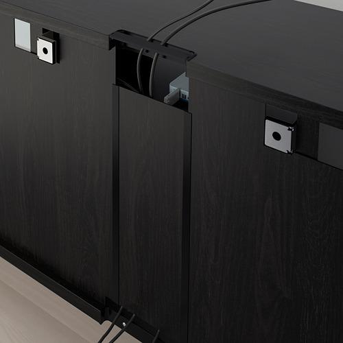 BESTÅ - 電視貯物組合/玻璃門, black-brown/Selsviken high-gloss/brown clear glass | IKEA 香港及澳門 - PE753016_S4