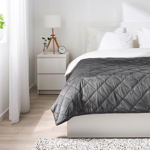 MJUKPLISTER - bedspread, dark grey | IKEA Hong Kong and Macau - PE808815_S4