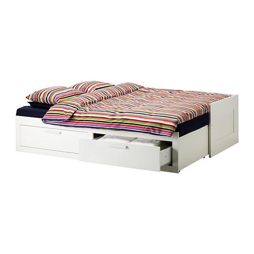 BRIMNES - 日間床連2抽屜及2床褥, 白色/Malfors 高度承托 | IKEA 香港及澳門 - PE319180_S4