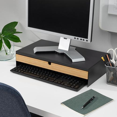 ELLOVEN - 螢幕架連抽屜, 47x26x10 cm, 炭黑色 | IKEA 香港及澳門 - PE808854_S4