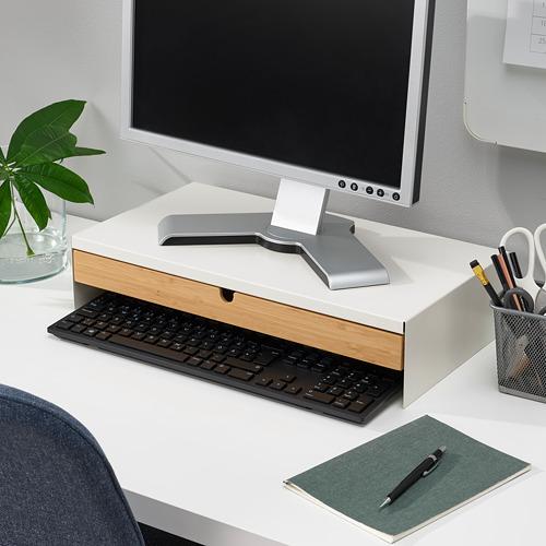 ELLOVEN - 螢幕架連抽屜, 47x26x10 cm, 白色   IKEA 香港及澳門 - PE808855_S4