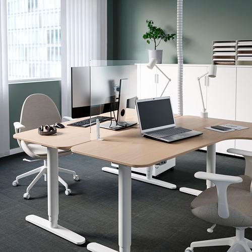 ANFALLSZON - screen for desk, transparent/white | IKEA Hong Kong and Macau - PE808927_S4