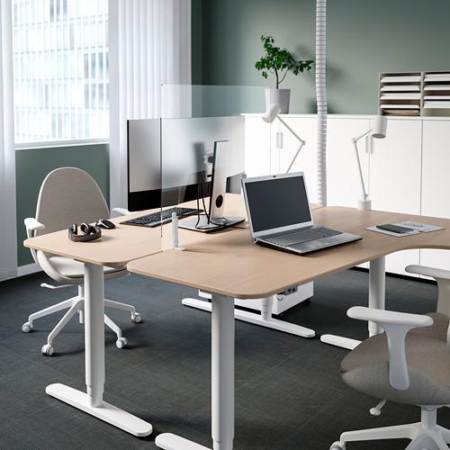 ANFALLSZON - screen for desk, transparent/white | IKEA Hong Kong and Macau - PE808931_S4