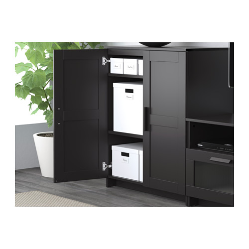 BRIMNES - cabinet with doors, black | IKEA Hong Kong and Macau - PE609342_S4