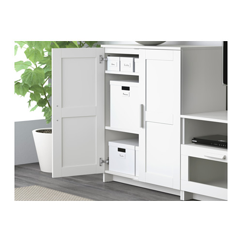 BRIMNES/BURHULT - TV storage combination, white | IKEA Hong Kong and Macau - PE609339_S4