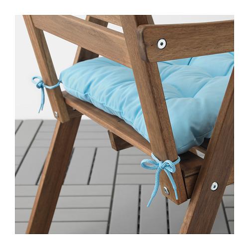 KUDDARNA - chair cushion, outdoor, 44x44 cm, light blue   IKEA Hong Kong and Macau - PE712811_S4