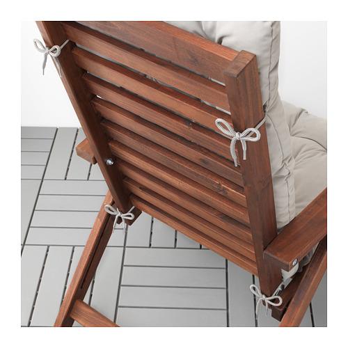 KUDDARNA - seat/back cushion, outdoor, grey | IKEA Hong Kong and Macau - PE712790_S4