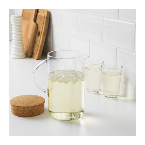 IKEA 365+ - jug with lid, clear glass/cork | IKEA Hong Kong and Macau - PE609452_S4