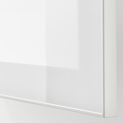 BESTÅ - TV bench, white stained oak effect/Selsviken/Nannarp high-gloss/white frosted glass   IKEA 香港及澳門 - PE753248_S4