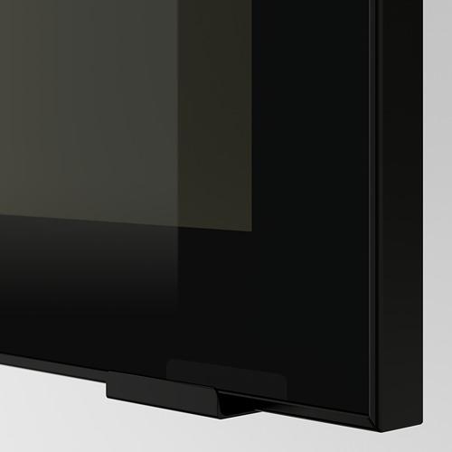METOD - 玻璃門吊櫃連推按式開關, 白色/Jutis 茶色玻璃 | IKEA 香港及澳門 - PE600580_S4