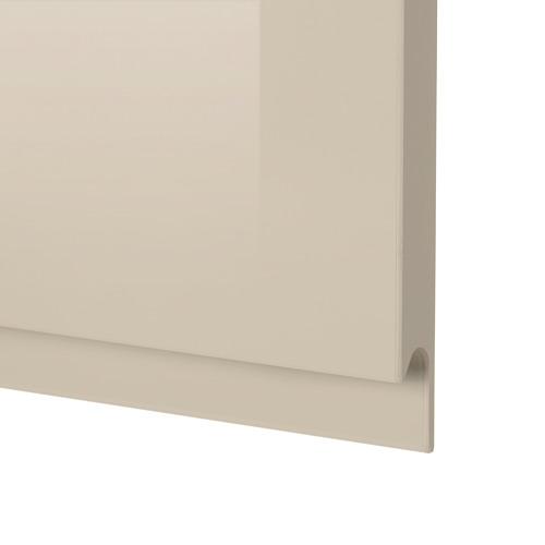METOD - 雙門吊櫃連推按式開關, 白色/Voxtorp 光面淺米色   IKEA 香港及澳門 - PE592564_S4