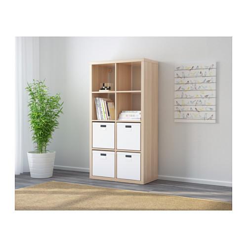 KALLAX - 層架組合, 染白橡木紋 | IKEA 香港及澳門 - PE609748_S4
