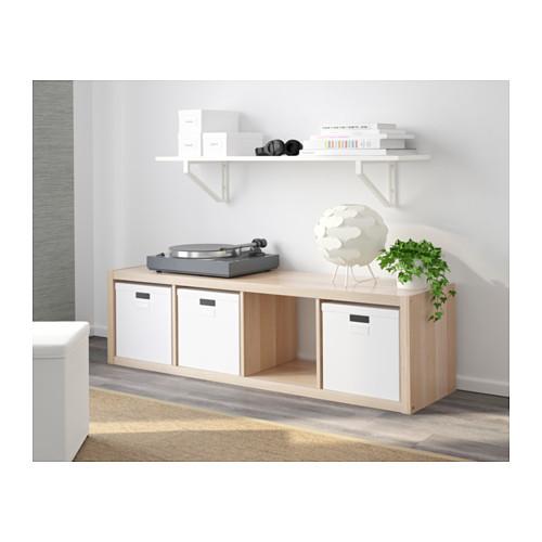 KALLAX - shelving unit, white stained oak effect | IKEA Hong Kong and Macau - PE609751_S4
